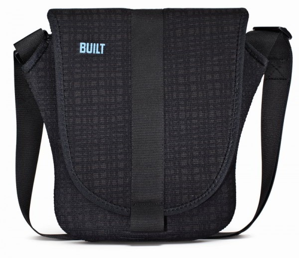 BUILT NY Neopren Messenger Bag in Graphit Grid