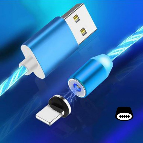 Cyoo Flow Light Magnet USB Typ C auf USB-A Kabel 1m - Blau