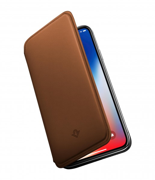 Twelve South SurfacePad für Apple iPhone X - Cognac