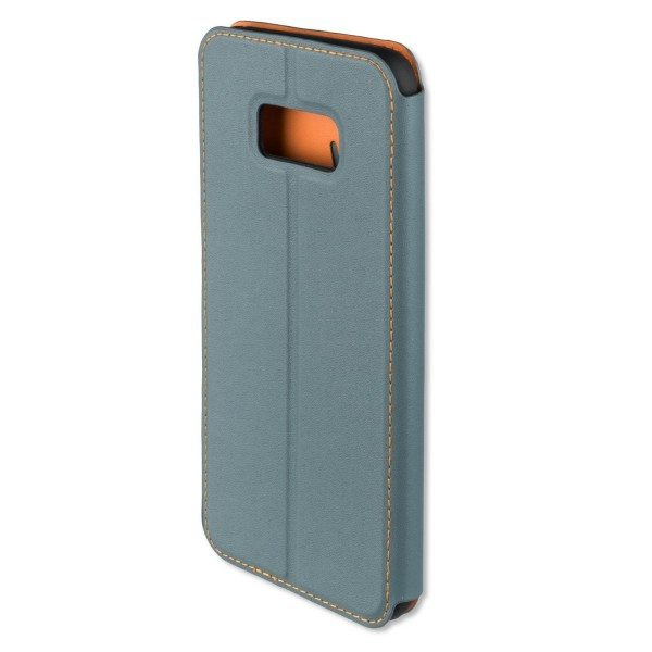 4smarts Flip-Tasche TWO-TONE für Samsung Galaxy S8+ - Blaugrau/Orange