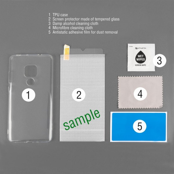 4smarts 360 Protection Set Limited Cover für Huawei P smart - Transparent