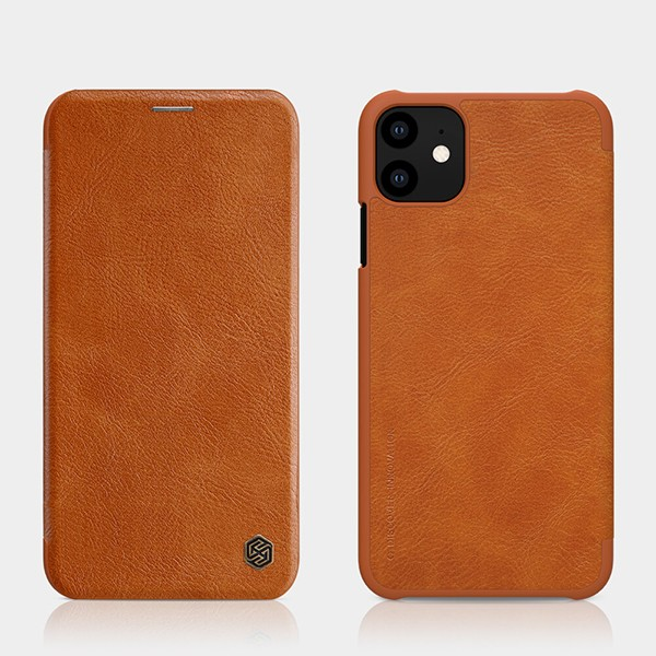 Nillkin Qin Leder Case Etui für Apple iPhone 11 - Braun