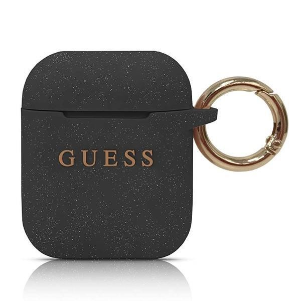 Guess Silicon Cover Ring für Apple Airpods - Schwarz