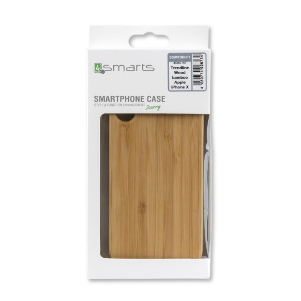 4smarts Clip-On Cover Trendline Wood für Apple iPhone Xs/X - Bambus