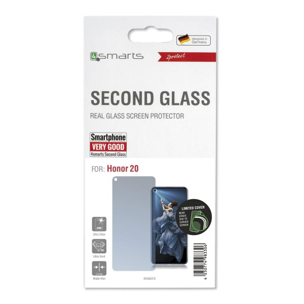 4smarts Second Glass Limited Cover für Honor 20