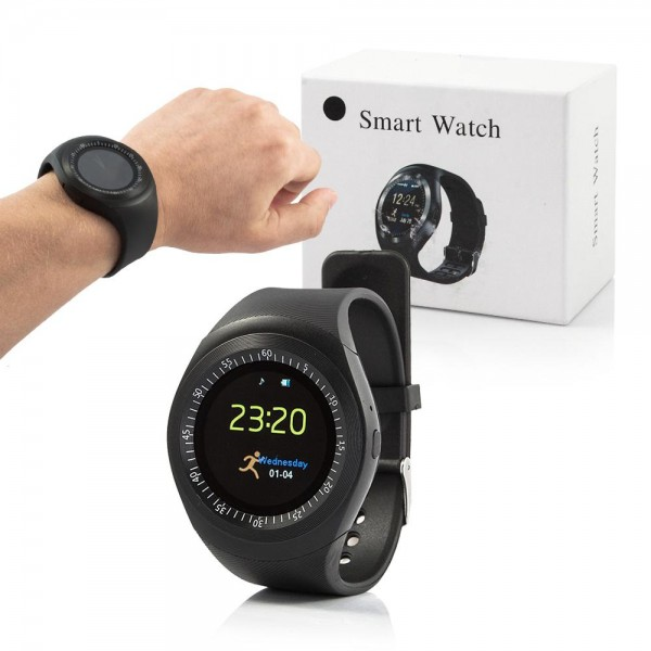 Smart Watch Y1 mit Telefonfunktion - Schwarz