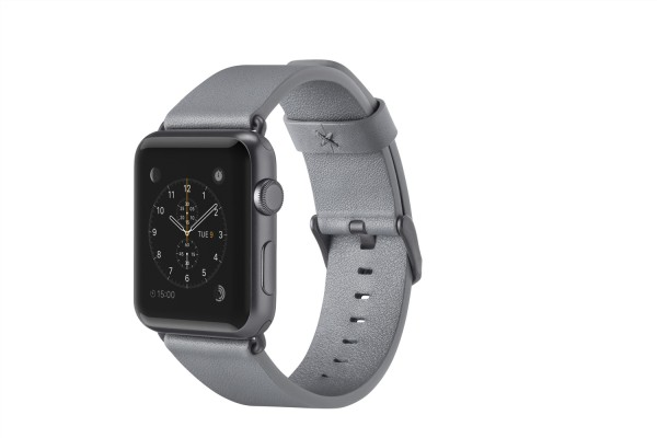 BELKIN Lederband Uhrenarmband für Apple Watch 38mm - Grau