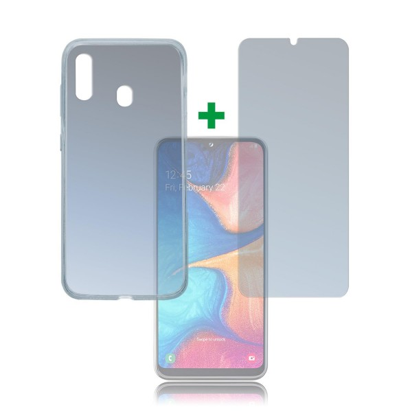 4smarts 360 Protection Set Limited Cover für Samsung Galaxy A20e - Transparent