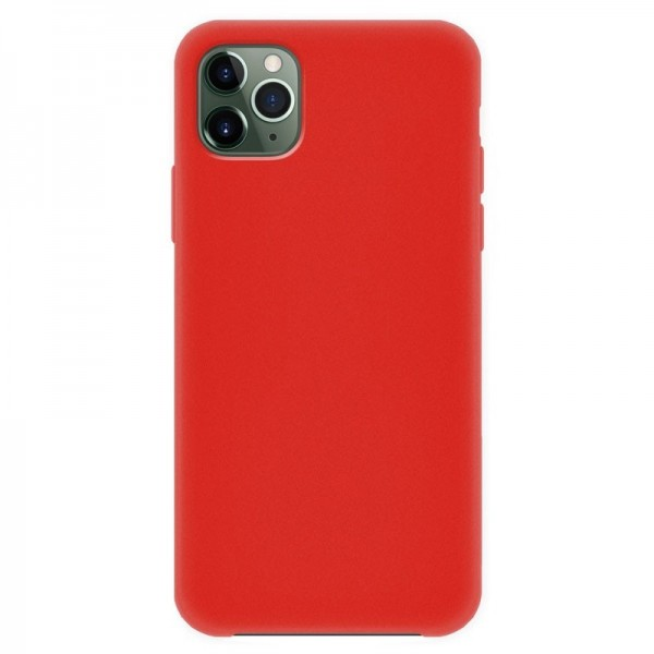 4-OK Silk Cover für Apple iPhone 11 Pro Max mit Samt-Innenfutter - Rot