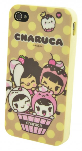 Charuca Kawaii Cover für Apple iPhone 4 und 4S - Troup Yellow
