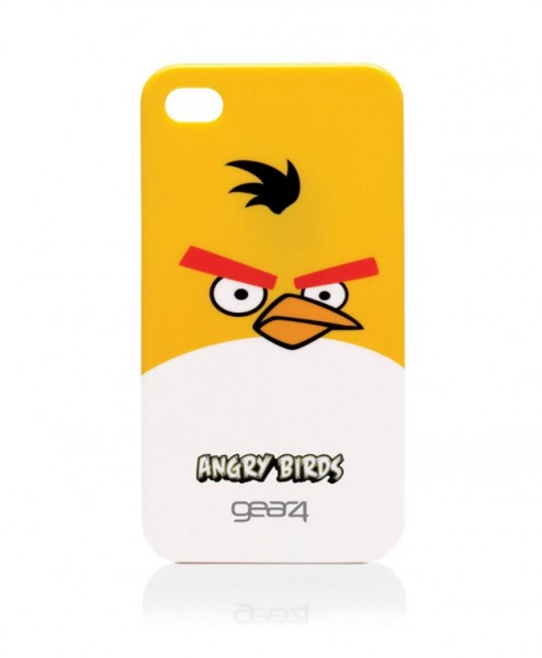 Gear4 Angry Birds Schutzhülle Gelb Apple iPhone 4