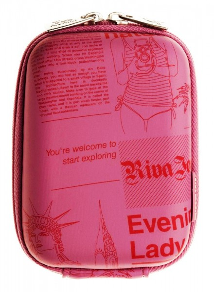 Riva 7103 PU Digital Case Pink Newspaper