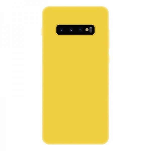 4-OK Slim Colors Schutz Hülle für Samsung Galaxy S10 Plus - Warm Yellow