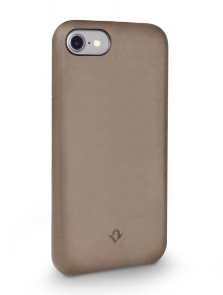 Twelve South Relaxed Leather Clip für Apple iPhone 8/7/6/6S - warm taupe