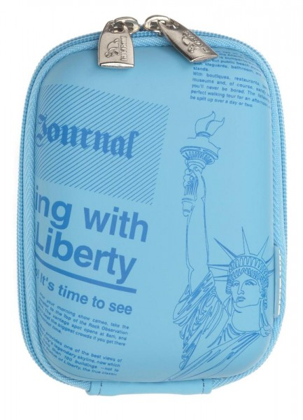 Riva 7023 PU Digital Case Hellblau Newspaper