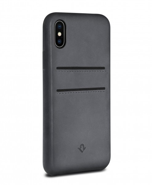 Twelve South Relaxed Leather Clip mit Pockets für Apple iPhone X/Xs - earl grey