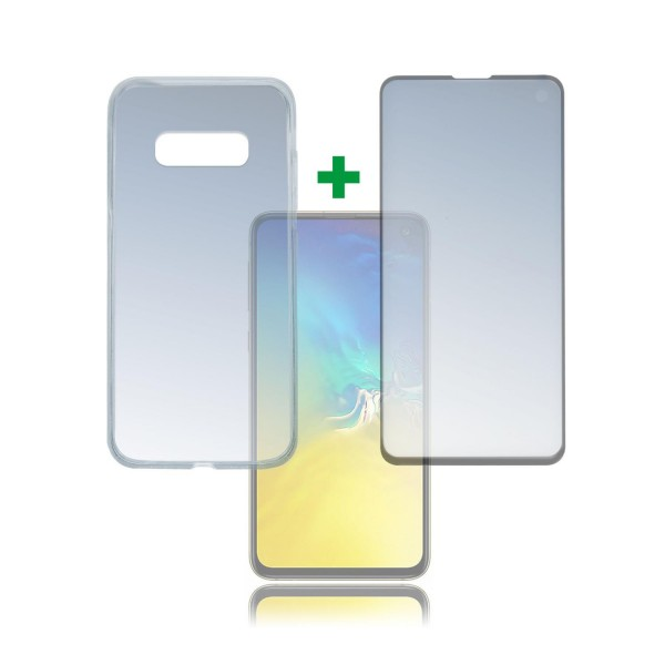 "4smarts 360 Premium Protection Set ""Case Friendly"" mit Colour Frame Glas für Samsung Galaxy S10e - S"