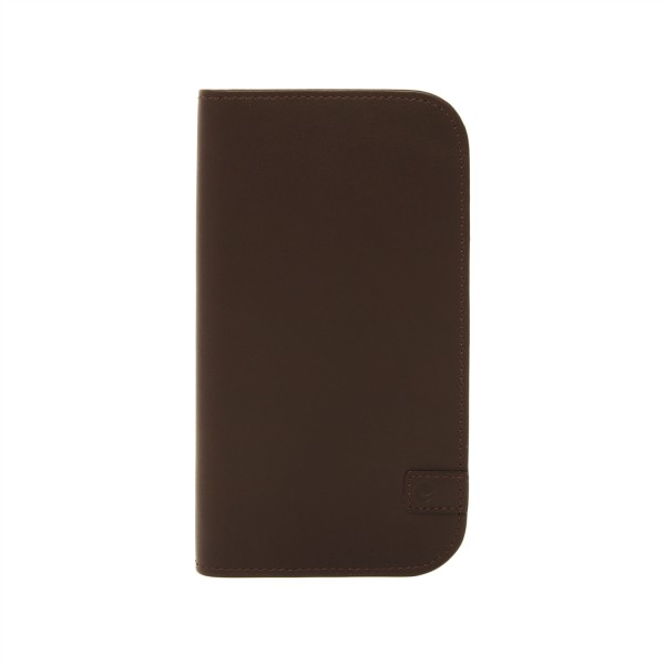Beyzacases Natural Leder Wallet für Apple iPhone X und XS - Braun