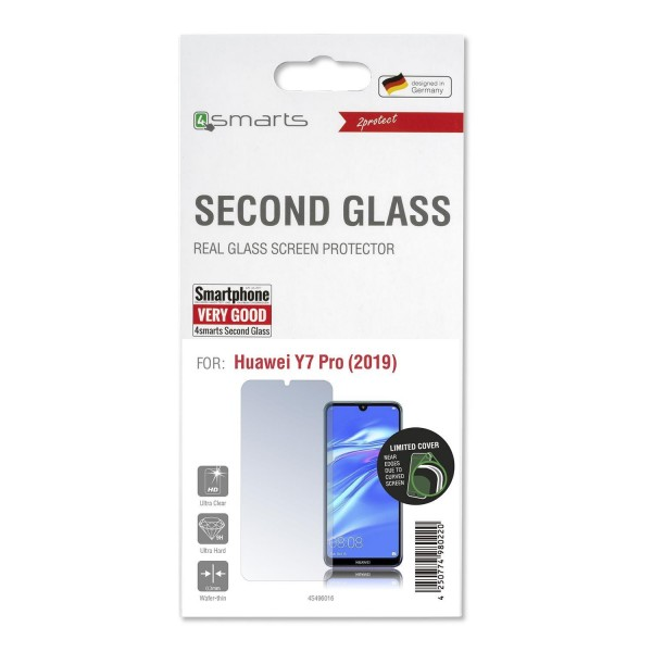 4smarts Second Glass Limited Cover für Huawei Y7 Pro (2019)