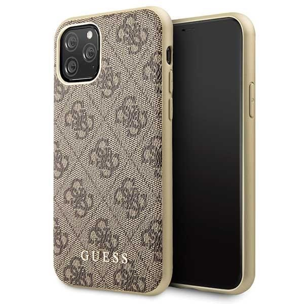 Guess Charms 4G Hard Cover für Apple iPhone 11 Pro Max - Braun