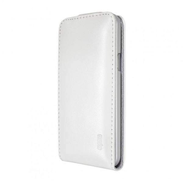 Artwizz SeeJacket Leather FLIP für Samsung Galaxy S5 mini, Weiss