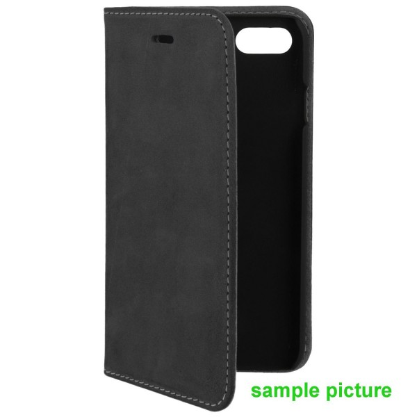 4smarts Flip-Tasche Trendline Genuine Leather mit Soft Cover für Apple iPhone Xs/X - Schwarz