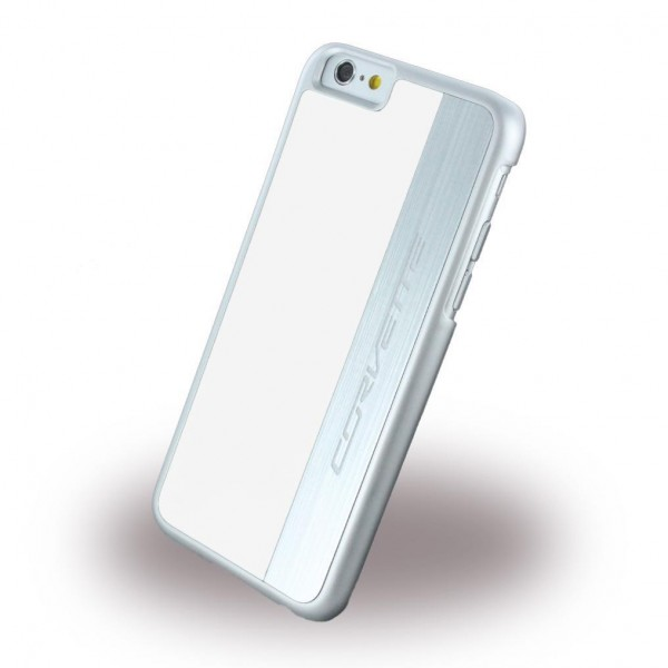 Corvette Silver Brushed Aluminium Hard Cover für Apple iPhone 6/6s - Weiss