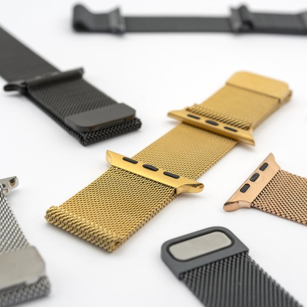 4smarts Metal Mesh Armband für Apple Watch Series 5/4 (44mm) und 3/2/1 (42mm) - Gold