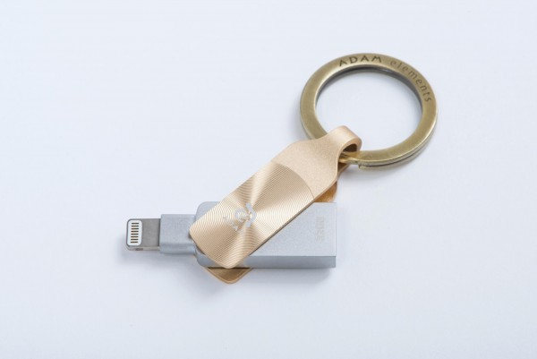 Adam Elements iKlips DUO+ - Apple Lightning/USB3.1 Flash Drive - 32GB - GLOWING AMBER Gold