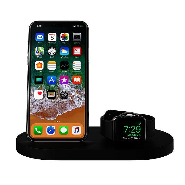 Belkin Wireless 7,5W Dual Ladedock für Apple Watch/iPhone - Schwarz