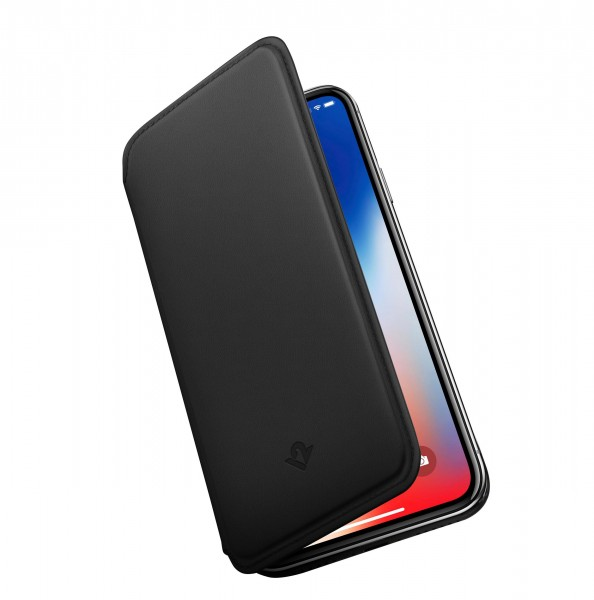 Twelve South SurfacePad Lederhülle für Apple iPhone XR in Schwarz