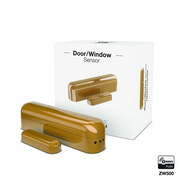 FIBARO Door / Window Sensor Kontatksensor mit Temperaturmessfunktion - Cognac