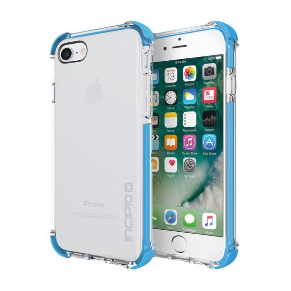 Incipio [Sport Series] Reprieve Case für Apple iPhone 8 / 7 /SE (2020) - transparent/cyan