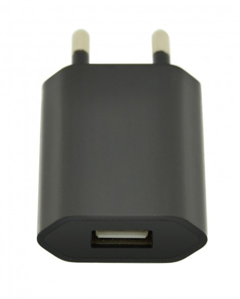 4-OK USB Home 1A in Schwarz