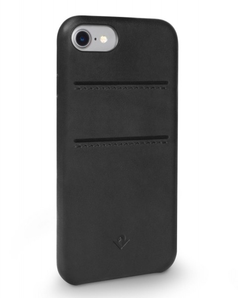Twelve South Relaxed Leather Clip mit Pockets für Apple iPhone 8/7/6/6S - Schwarz