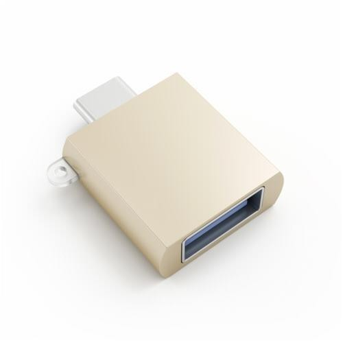 Satechi Aluminum Type-C to Type-A USB Adapter - Gold