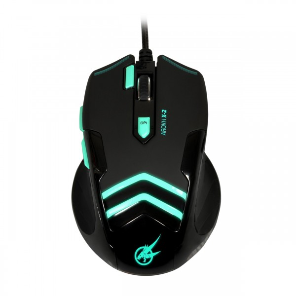PORT DESIGNS GAMING MOUSE AROKH X-2 - 7 BUTTONS 3500 DPI - GN
