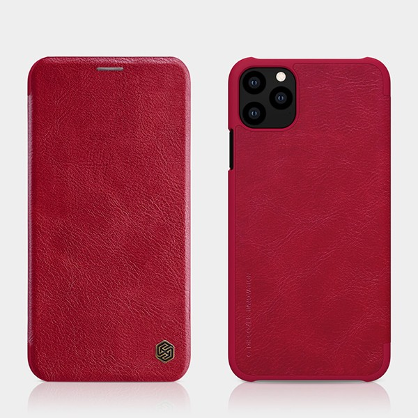 Nillkin Qin Leder Case Etui für Apple iPhone 11 Pro - Rot