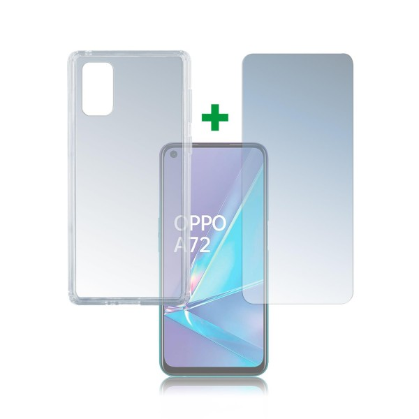 4smarts 360 Protection Set für Oppo A72 - Transparent