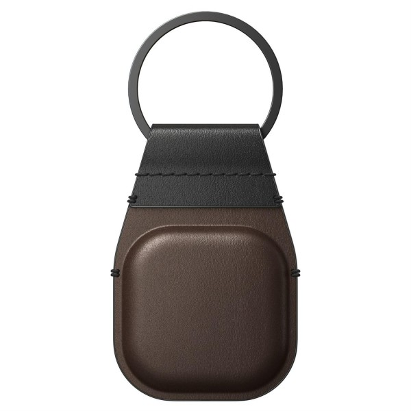 Nomad Airtag Leather Keychain - Rustic Brown (Braun)