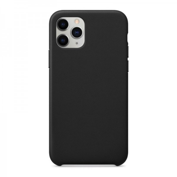 4-OK Silk Eco-Leather Cover für Apple iPhone 11 Pro - Schwarz