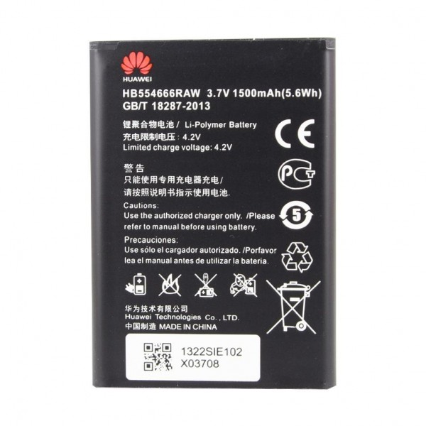 Huawei - HB554666RAW - Lithium-Ion Akku - Battery für E5372, E5330, E5336 - 1500mAh