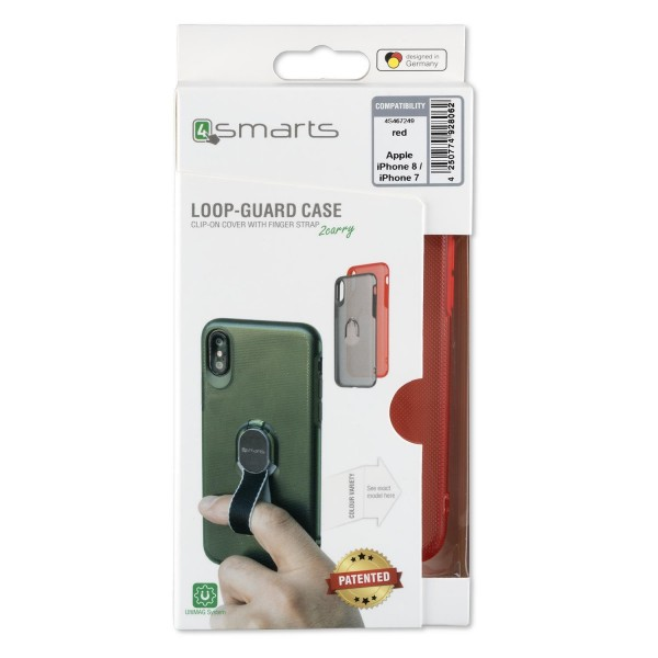 4smarts Clip-On Cover LOOP-GUARD für Apple iPhone 8 / iPhone 7 - Rot