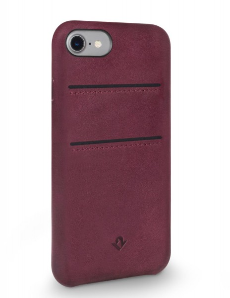 Twelve South Relaxed Leather Clip mit Pockets für Apple iPhone 8/7/6/6S - Marsala