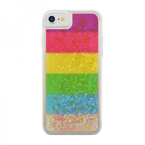 4-OK LIQUID Cover für Apple iPhone 6/6s/7/8/SE (2020) - Regenbogen