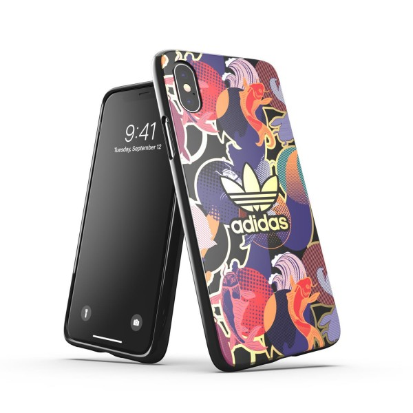 adidas OR Snap Case AOP CNY SS21 für Apple iPhone X/Xs - Colourful