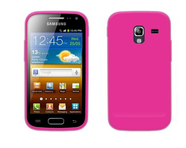 4-OK Protek Solid Colors Case für Samsung Galaxy Ace 2 i8160 in Pink