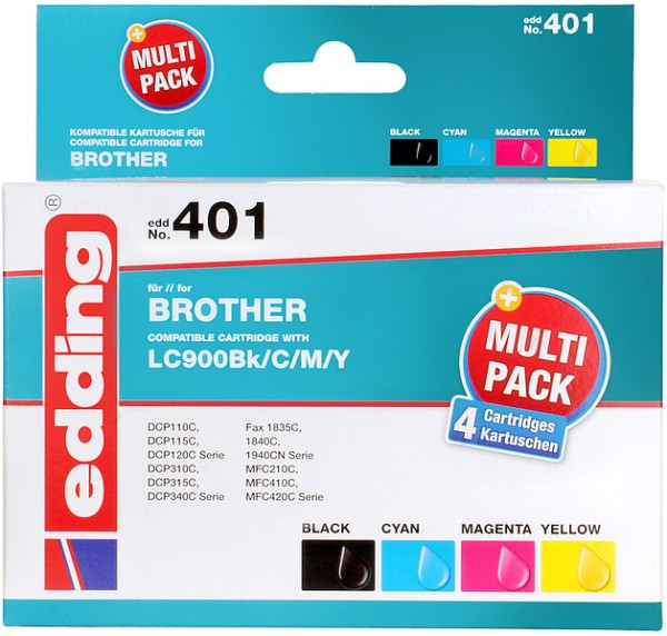 edding Multipack 4 Brother LC900 colour