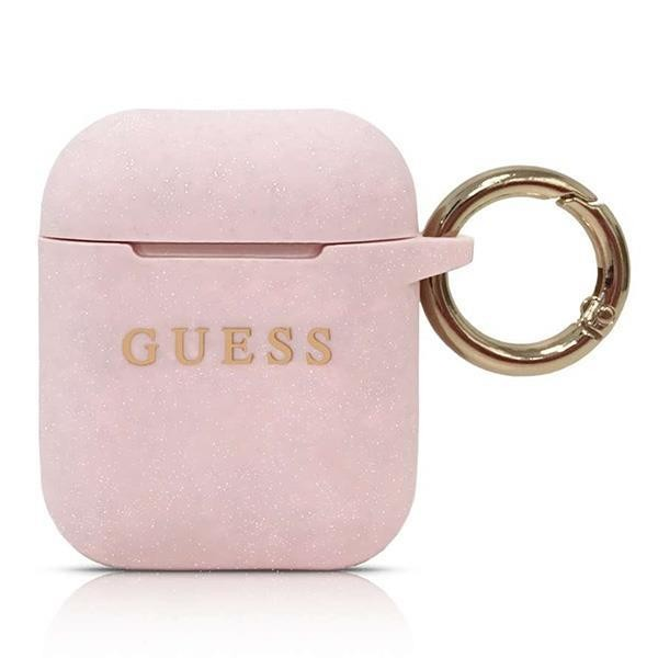 Guess Silicon Cover Ring für Apple Airpods - Pink