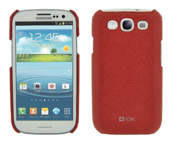 4-OK Cover für Samsung Galaxy S3 i9300 in Rot